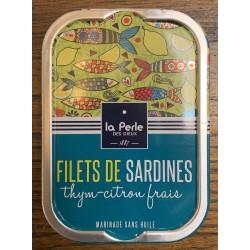 Sardines sans huile thym et...